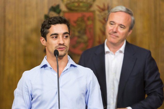 El patinador Javier Fernández, Medalla al Mérito Deportivo Ciudad de Zaragoza 2019.