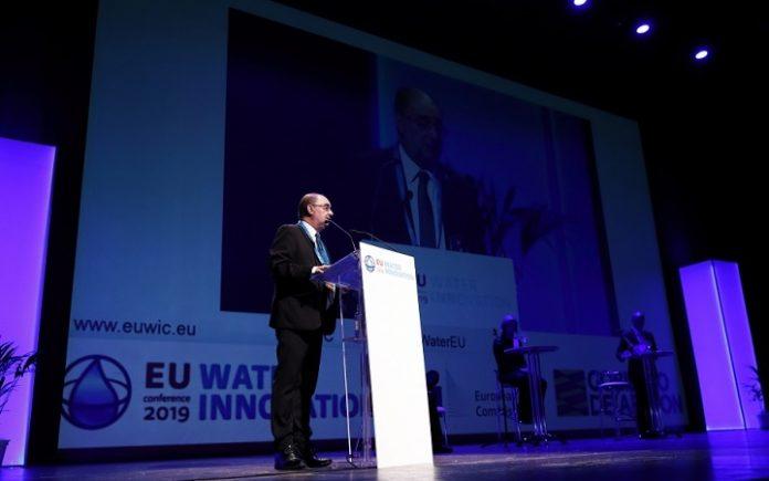 Lambán asegura durante la EUWIC que Zaragoza será sede de nuevos eventos internacionales en relación con el agua