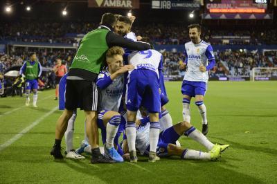 Partido del Real Zaragoza contra el Girona.
