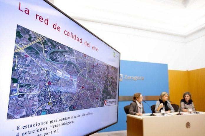 Presentación de los datos recabados por la Red de Calidad del Aire de Zaragoza.