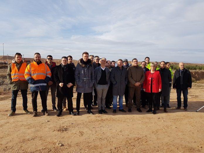 Inician la reurbanización exterior de la plataforma agroalimentaria en Épila