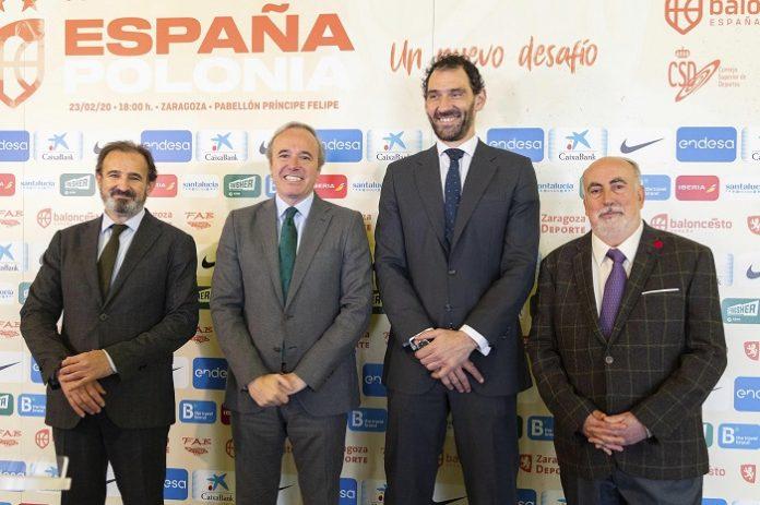 Zaragoza recibe a la Selección Española de Baloncesto el 23 de febrero