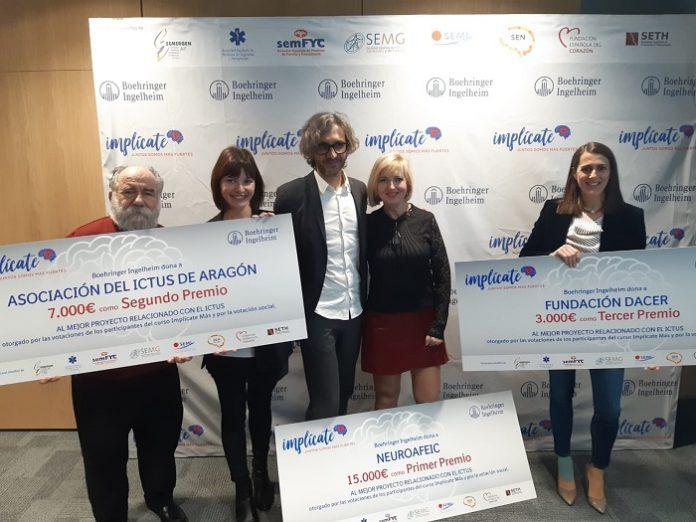 Asociación Ictus de Aragón gana el 2º premio de las becas 'Implícate Más'