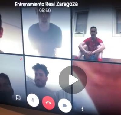 Real Zaragoza: confinados pero activos