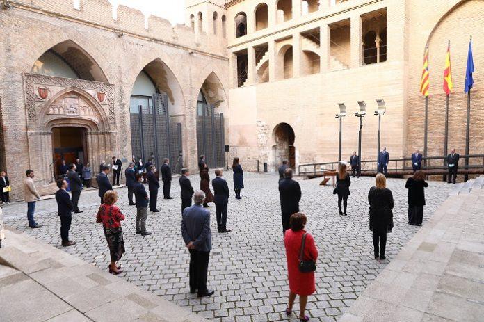 Aragón dedicó su Día a las víctimas del covid-19 y los profesionales sanitarios
