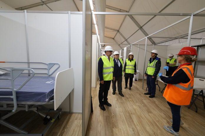 El hospital de campaña en la Feria de Muestras estará listo el 7 de abril