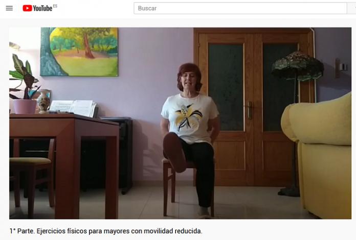 Los mayores de Zaragoza se mantienen activos con clases virtuales de gimnasia