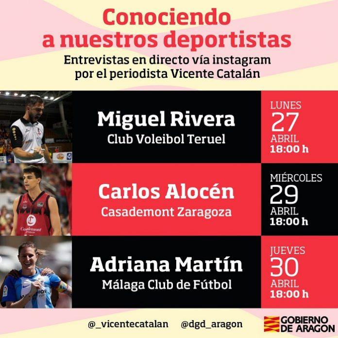 Charlas online con ídolos deportivos de Aragón