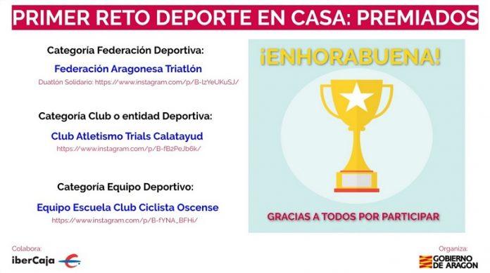El reto deportivo aragonés ya tiene a sus primeros ganadores