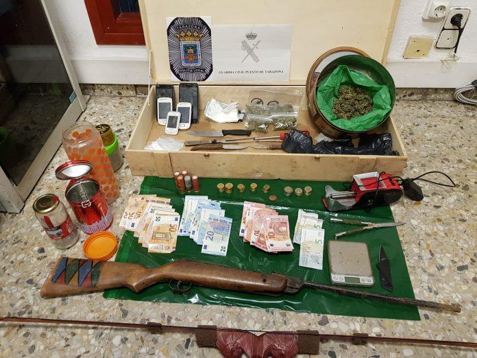 Dos jóvenes detenidos en Tarazona por un delito de tráfico de drogas