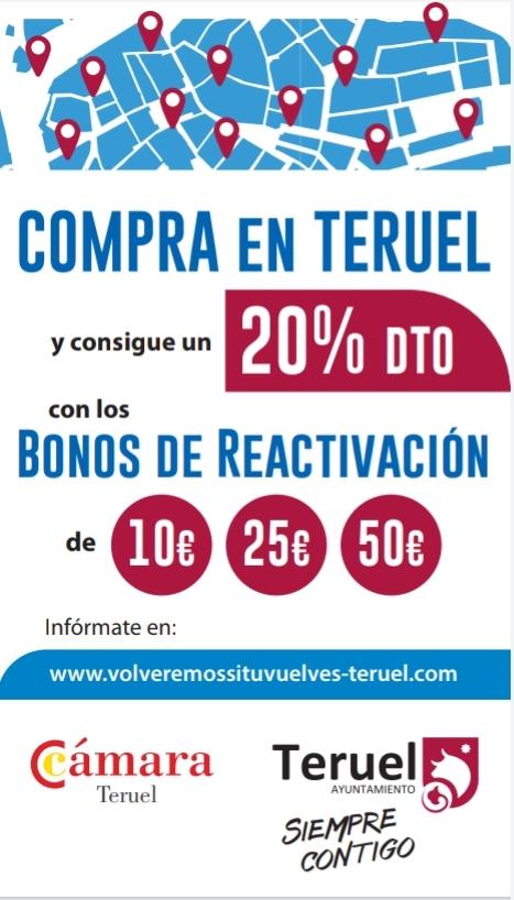 Teruel pone en circulación 20.000 euros en bonos de reactivación económica