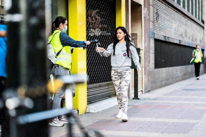 Aragón reparte 170.000 mascarillas en los nodos de transporte público