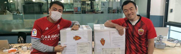 Empresario chino aficionado del Real Zaragoza dona 5.000 mascarillas a la ciudad
