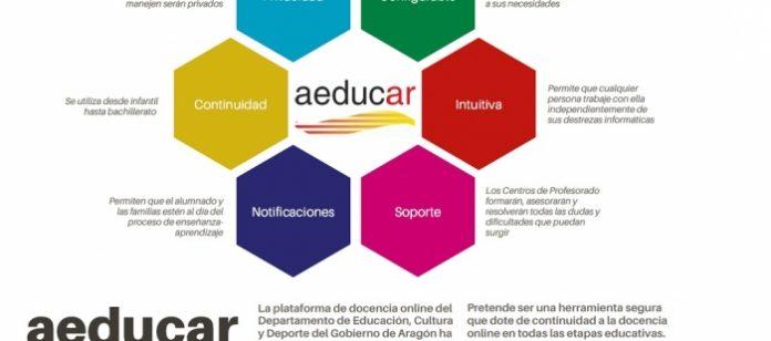 Educación presenta una plataforma online para todos los centros de Aragón