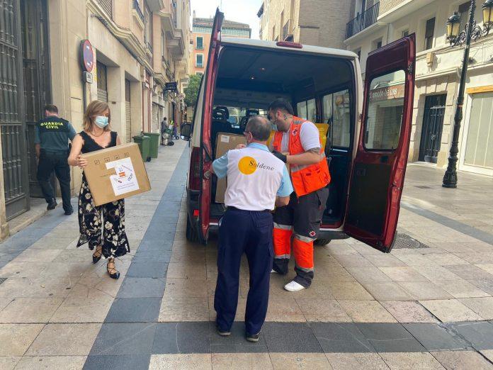 Aragón recibe 82.500 mascarillas para Cruz Roja, Cáritas y CERMI