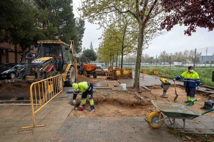 Inicio de la segunda fase de renovación de aceras de calle Manuel Lasala