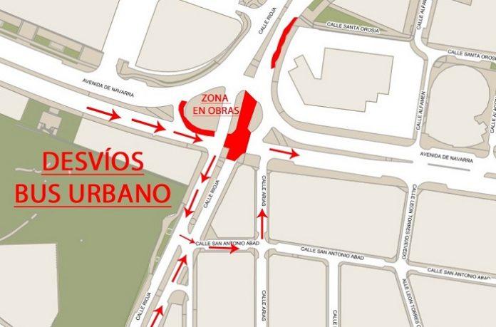 La renovación de la gran tubería de la avenida Navarra comienza la próxima semana
