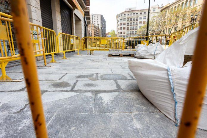 Comienza hoy la renovación de la plataforma de prioridad peatonal de César Augusto