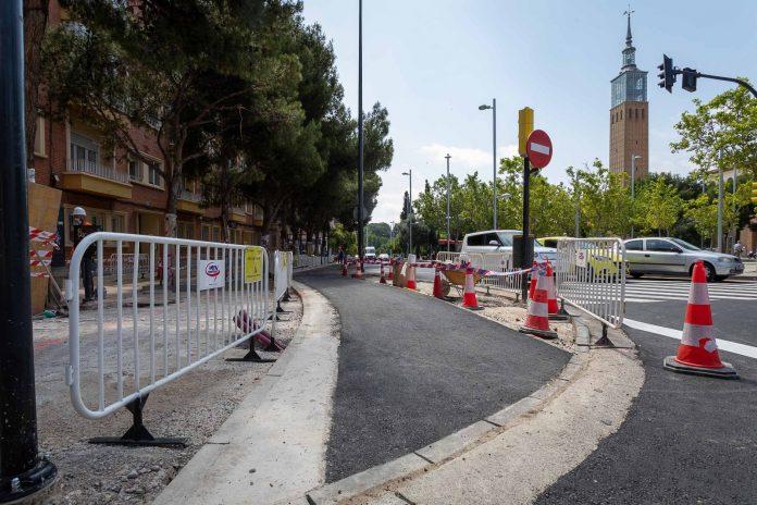 Mejoran la accesibilidad de la plaza emperador Carlos V de Zaragoza