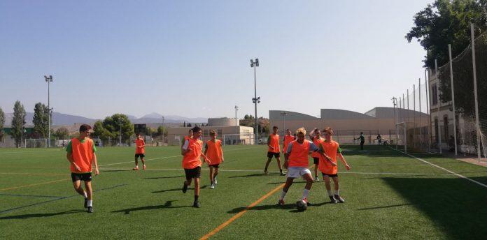 Entrenamiento en el Campus Huesca.