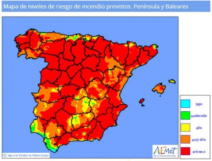Aragón mantiene por prevención la alerta naranja por peligro de incendios forestales