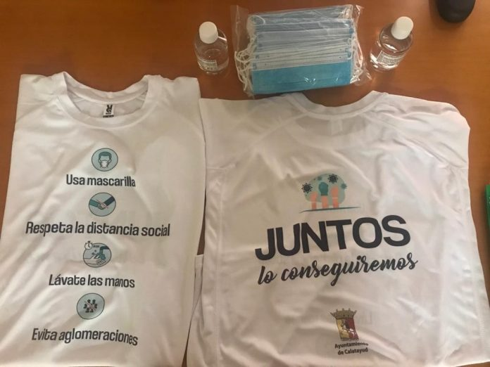 Voluntarios de Calatayud concienciarán en la prevención de la COVID-19