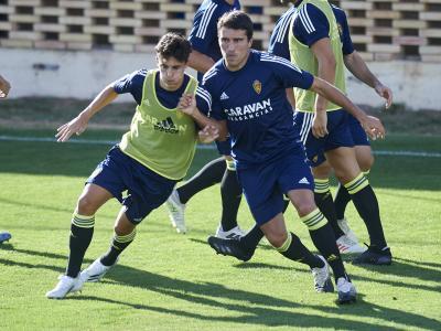 Partido amistoso entre El Real Zaragoza y el Gimnástic de Tarragona
