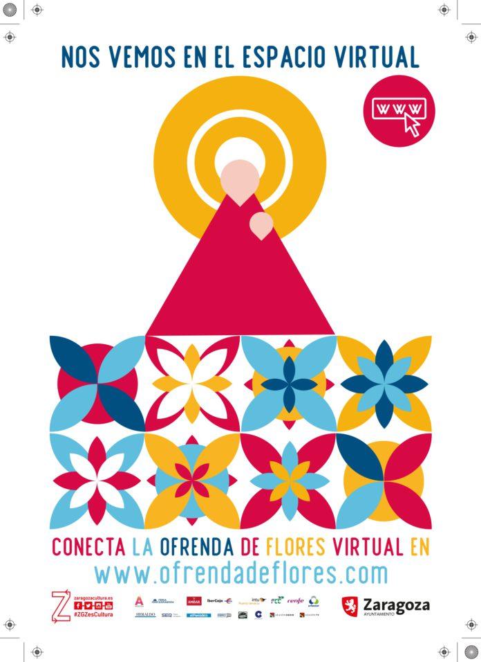 Entrega virtual de flores a los pies de la Virgen del Pilar