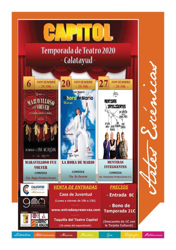 El teatro regresa al cine Capitol de Calatayud con tres comedias