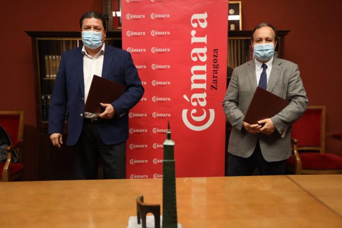 Convenio entre la Cámara y FECOM para impulsar el comercio de Zaragoza