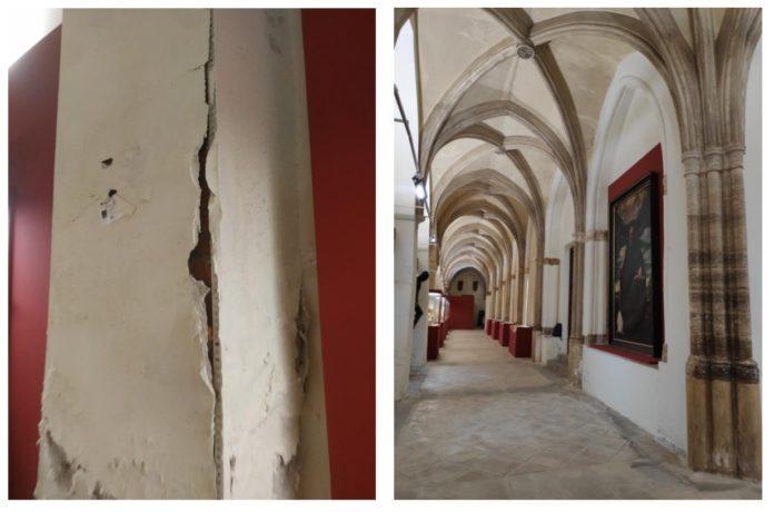 Calatayud intervendrá los revocos del claustro de Santa María