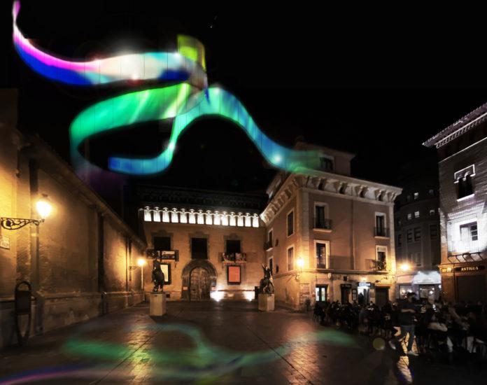 Auroras boreales y mantos de luz iluminarán la Navidad en Zaragoza