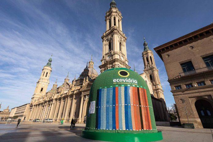 Instalan en la Plaza del Pilar el contenedor más grande del mundo