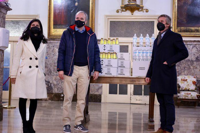 Donan 2200 unidades de gel hidroalcohólico a entidades sociales de Zaragoza