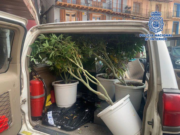 Detenidos en Calatayud cuando trataban de dar un 'vuelco' de marihuana
